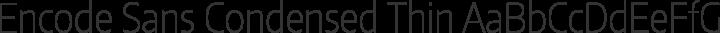 Encode Sans Condensed Thin free font