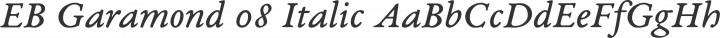 EB Garamond 08 Italic free font