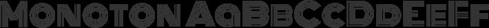 Monoton font family by Vernon Adams