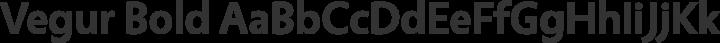 Vegur Bold free font