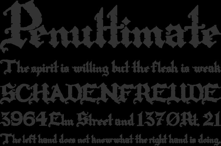 Rapscallion Font Phrases