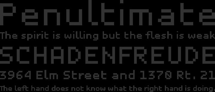 Unibody 8 Font Phrases