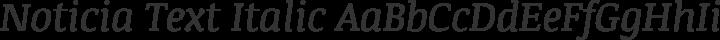 Noticia Text Italic free font
