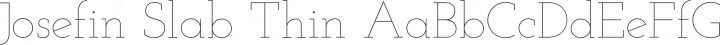 Josefin Slab Thin free font