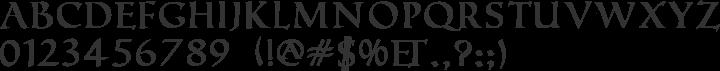 Roman Caps Font Specimen