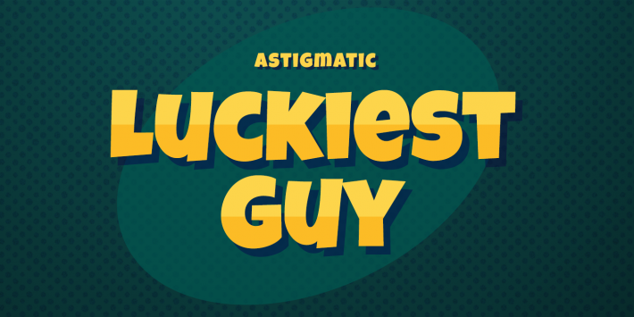 Luckiest Guy Font Free by Astigmatic » Font Squirrel